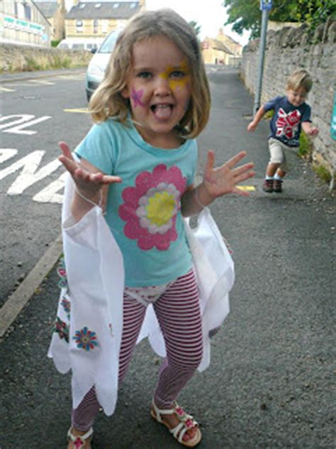 through cut up sheets and dresses rather dodgy face five go blogging growing up into flower girl