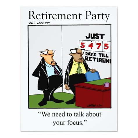 printable retirement jokes funny retirement party invitations zazzle com