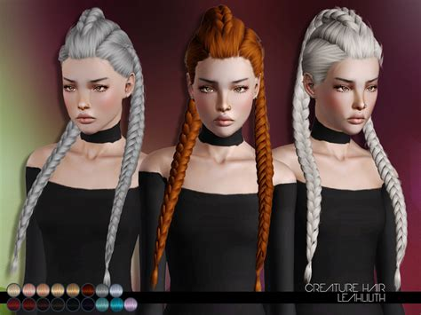 sims 3 hair braid tsr the sims resource over leah lillith s leahlillith creature hair