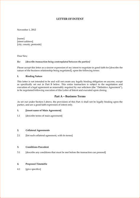 letter intent uk letter intent intentions