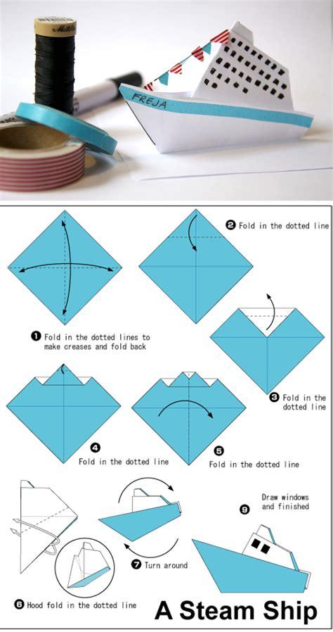 basic origami simple origami steamer ship vous pourrez retrouver le