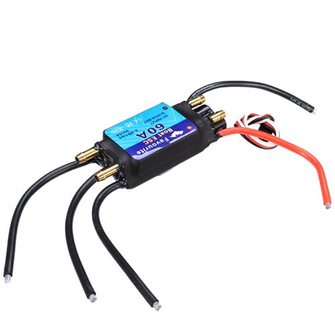 rc boat motors waterproof fvt boat060 60a brushless senseless boat esc speed