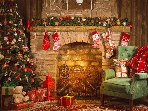 Amerikanischer Kamin Weihnachten by Merry Britannica