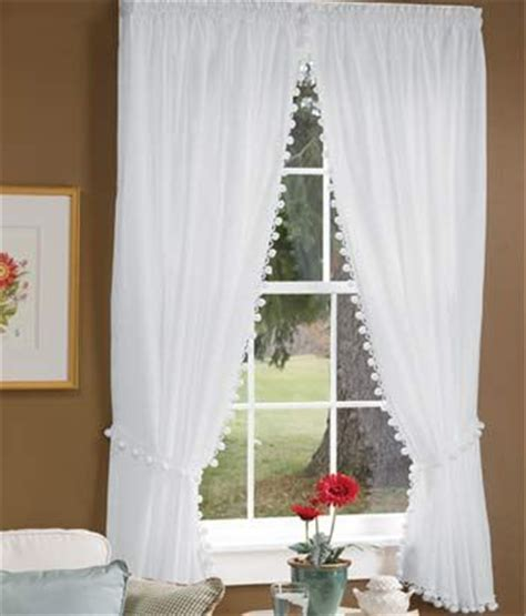 ball fringe curtains my mom guest rooms and classic on pinterest