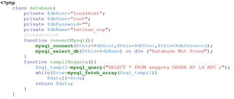 tutorial php dengan oop cara menilkan data dengan php oop