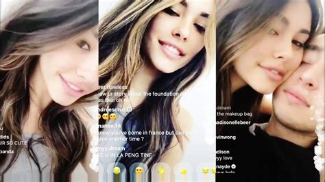 madison beer live stream madison beer speaking french with zack bia instagram