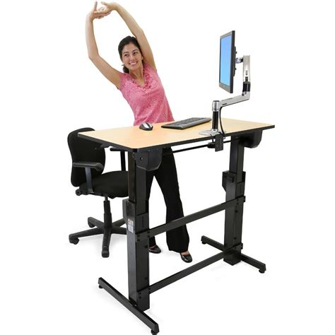 ergotron workfit d sit stand desk sit stand desk product llr25993 lorell electric height