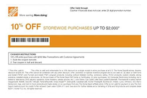 10 off coupon home depot moving