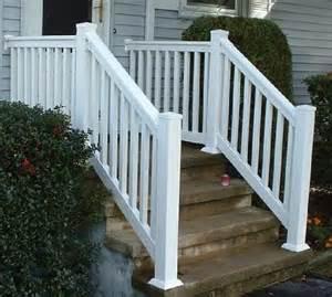 Pvc Stair Railings by Outdoor Stair Railing Vinyl Pvc Railing Installation