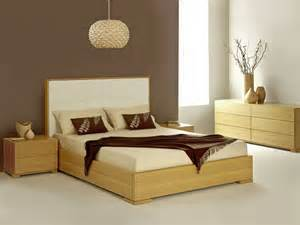 Designs zen bedroom theme design with light brown wood furniture