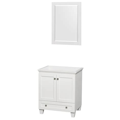 30 Inch Bathroom Vanity With Sink Acclaim 30 Inch Single Bathroom Vanity In White No Countertop No Sink