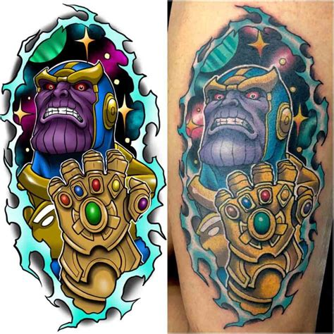 thanos tattoo new school thanos best ideas gallery