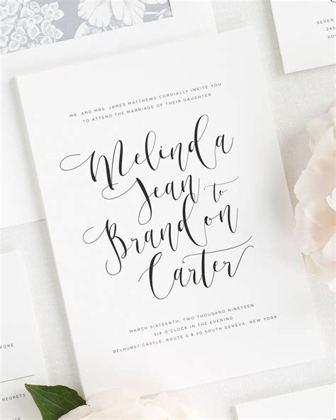 what should be written on wedding invitations flowing calligraphy wedding invitations wedding