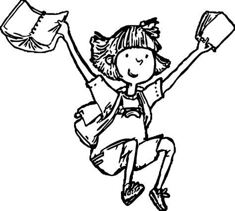 amelia bedelia coloring pages images amelia bedelia finish school coloring page wecoloringpage