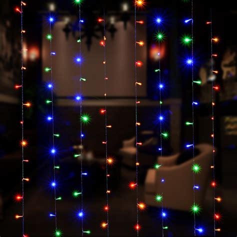 300 led solar powered fairy string curtain light l