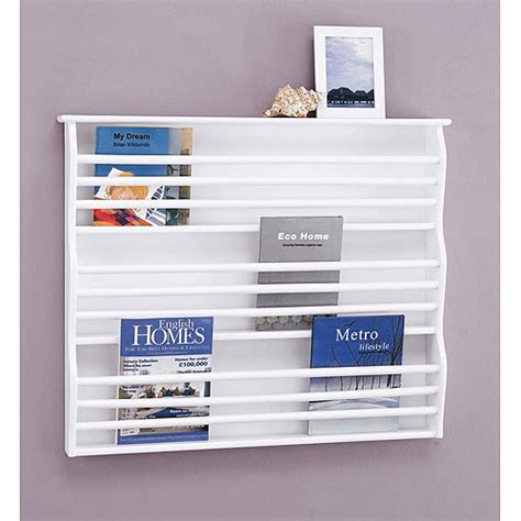 White Wall Magazine Rack by White Magazine Hainging Rack Wall Mount Magazine Book