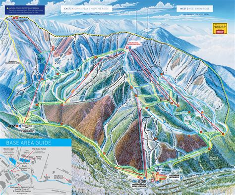 map of us ski area taos ski valley trail map onthesnow