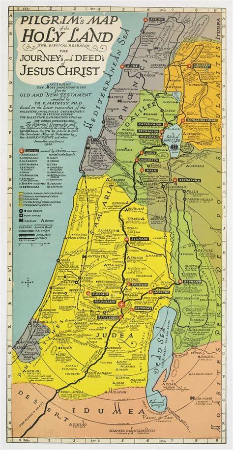 pilgrams map   holy land  maps pinterest