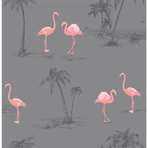 flamingo wallpaper kitchen brewster sanibel dark grey flamingo wallpaper sle 2704