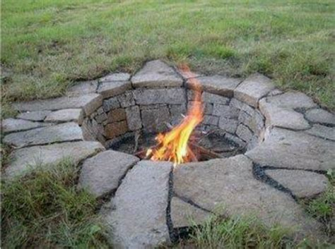 Rocks For Firepit Creative Pit Designs And Diy Options
