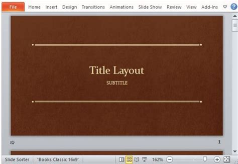 Classic Book Template For Powerpoint Powerpoint Template Book Theme