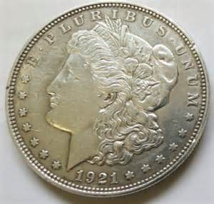 1921 morgan silver dollar au