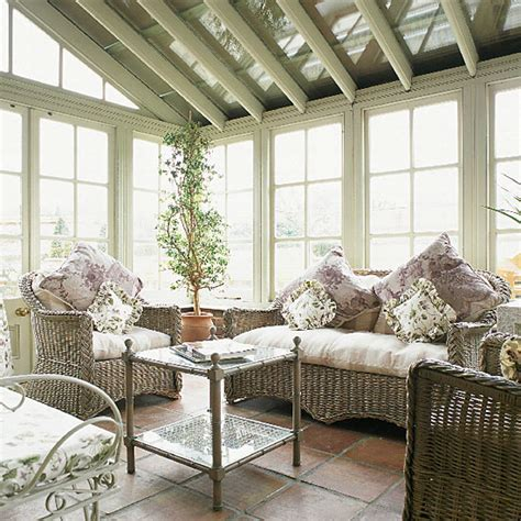 Victorian Conservatory With Wicker Furniture Ideal Home Conservatory Furniture Ideas