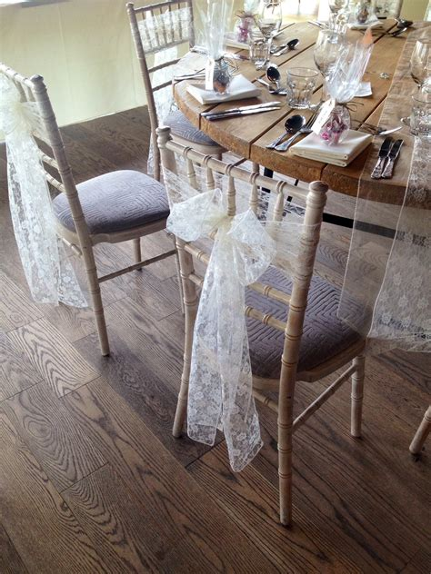 Wooden Farm Table Lace Sash Hire At Newton Hall And High House Farm In
