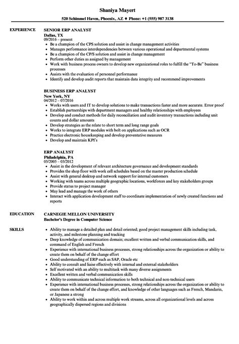 Erp Analyst Sle Resume by Erp Business Analyst Sle Resume Status Report Sle Word Border Template