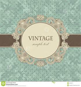 vintage card with a floral frame stock image image 26332271
