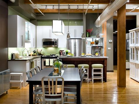 kitchen dining area ideas l shaped kitchen design pictures ideas tips from hgtv