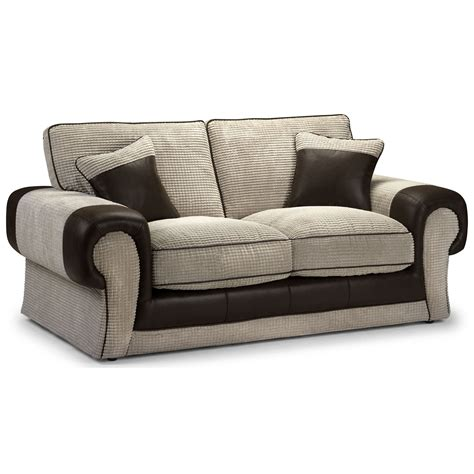 Sofa Bed Jumbo tangent 2 seater sofa bed leather look jumbo cord