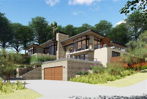 modern hillside house designs black budget homes