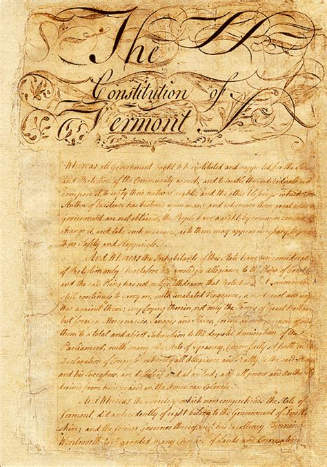 constitution printed for dissemination in new york state with george constitution of vermont wikipedia