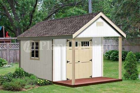 shed plans with porch 16x20 ft guest house storage shed with porch plans p81620