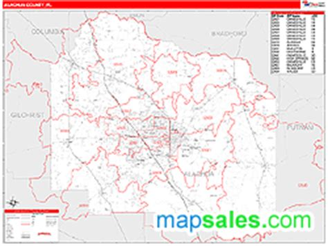 zip code map gainesville fl alachua county fl zip code wall map red line style by