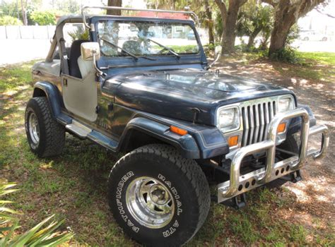 1990 jeep wrangler engine 1990 blue jeep wrangler laredo 4 2l engine 5 speed manual