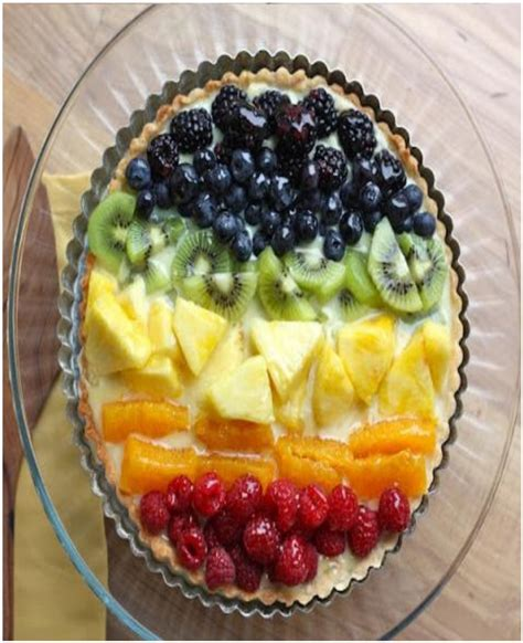 Rainbow Tart 7 sweet and sour fruit recipes