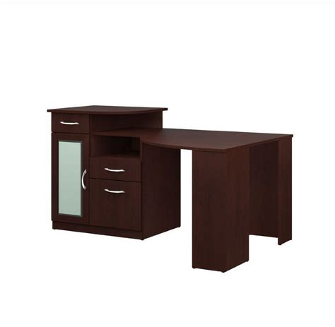 cherry corner computer desk with hutch office storage