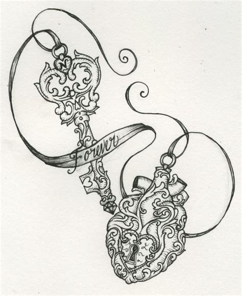 heart and key tattoo designs beautiful vintage key locket tattoos