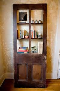 Wood Corner Bookcase 10 Creative Door Repurpose Ideas Hative