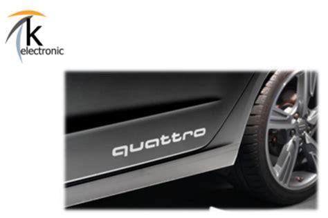 Schriftzug Aufkleber Audi by K Electronic 174 Gmbh Audi Quattro Schriftzug Silber