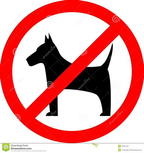 no puppies no sign stock vector illustration of notice alarm 14337767