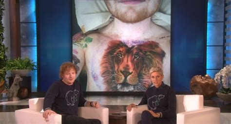 ed sheeran chest tattoo why did ed sheeran have a lion tattooed on his chest
