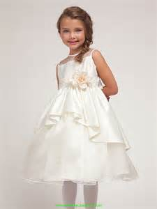 flower ivory elegant bridal satin dress