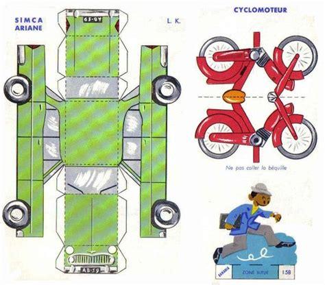 Papercraft Bike - il favoloso mondo di carta di tot 242 simca ariane et