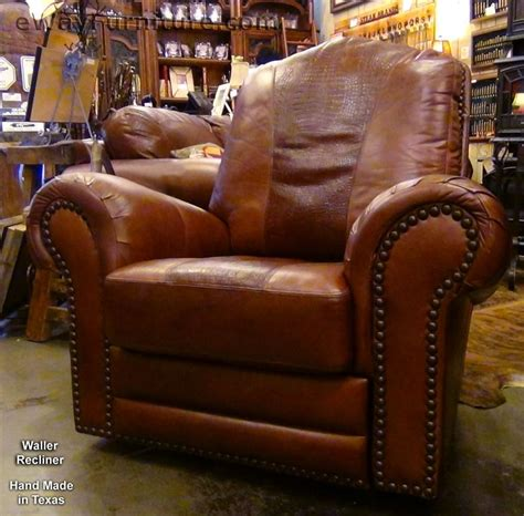 recliners made in america 100 hand cut top grain leather recliner in red brown made