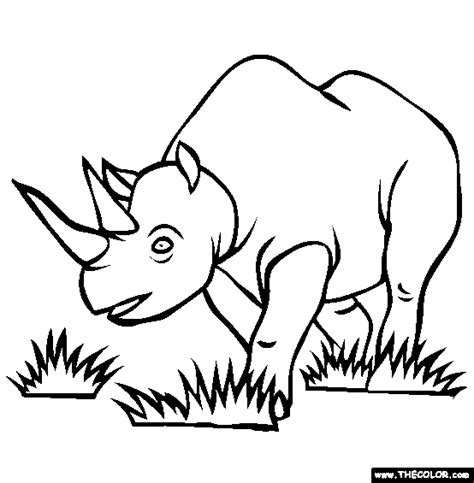 amazing coloring pages rhino coloring pages