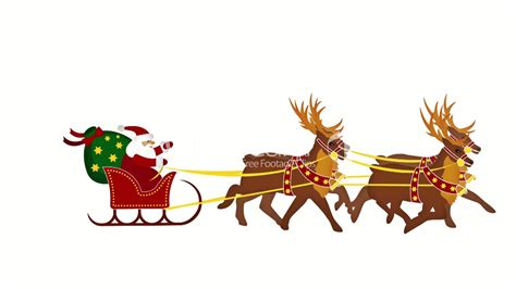 animated santa and reindeer clip art 52