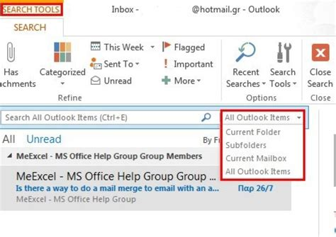 Search For Unread Emails In Outlook How To View Only Your Unread Email In Outlook 13 Officesmart